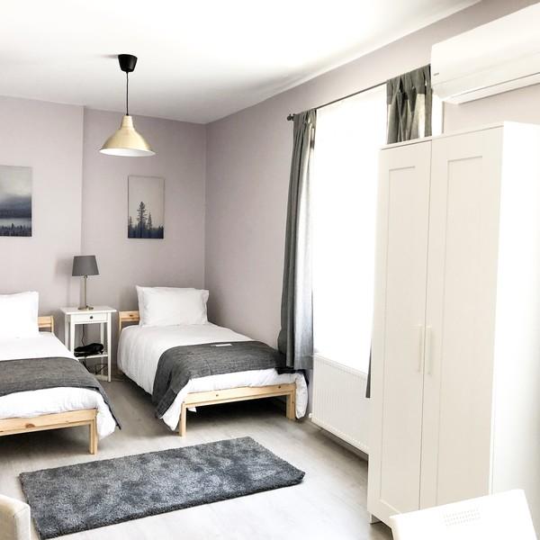 Two Single Bed Studio Apartment